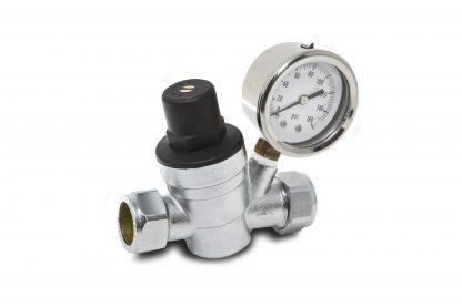 Essentials 22mm Adjustable Pressure Reducing Valve with Gauge