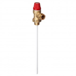 "Altecnic - Caleffi 4 Bar 1/2"" 90°C Pressure and Temperature Relief Valve 309445"