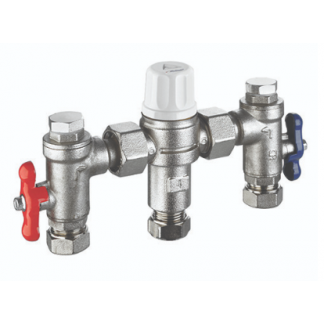 Reliance HEAT110625 - 22mm 4 in 1 Heatguard Dual TMV2/3 Mixing Valve