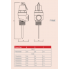 "Reliance - PTEM600003 - 1 1/4"" FVMX 7.0 Bar Pressure & Temperature Relief Valve Dimensions"