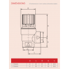 "Reliance - PREL101023 - 3/4"" M*FBSP 3.0 Bar Pressure Relief Valve"