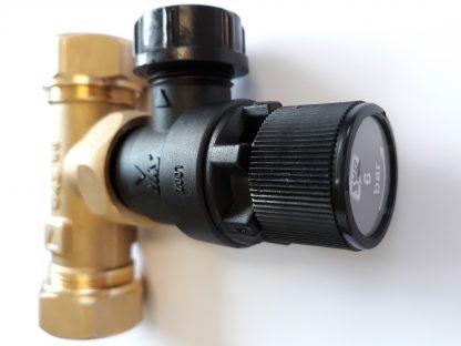 Heatrae Sadia Megaflo 22mm Tee / 6 Bar Pressure Relief Valve 95607030 / 95605893 p3