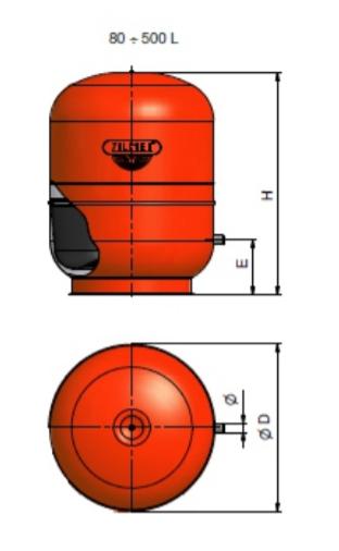 1300030000 - Zilmet 300 Litre Cal-Pro Heating Expansion Vessel