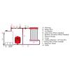 1300005003 - Zilmet 50 Litre Cal-Pro Heating Expansion Vessel