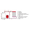 1300005000 - Zilmet 80 Litre Cal-Pro Heating Expansion Vessel