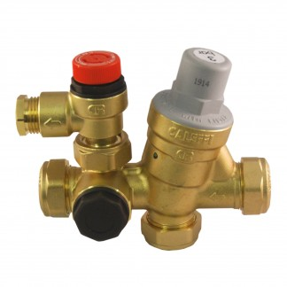 Caleffi - 22mm Inlet Control Multibloc Valve Group 533002CST