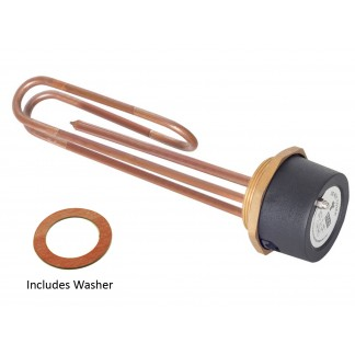 "Tesla 11"" Copper Immersion Heater with 2.1/4"" Boss"