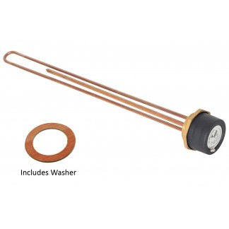 "Tesla 18"" Copper Immersion Heater with 2.1/4"" Boss"