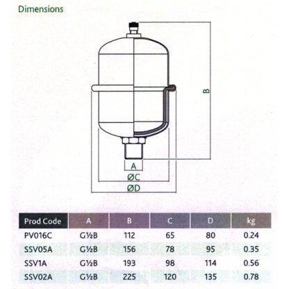 Manco 0.16Ltr Potable Expansion Vessel Shock Arrestor