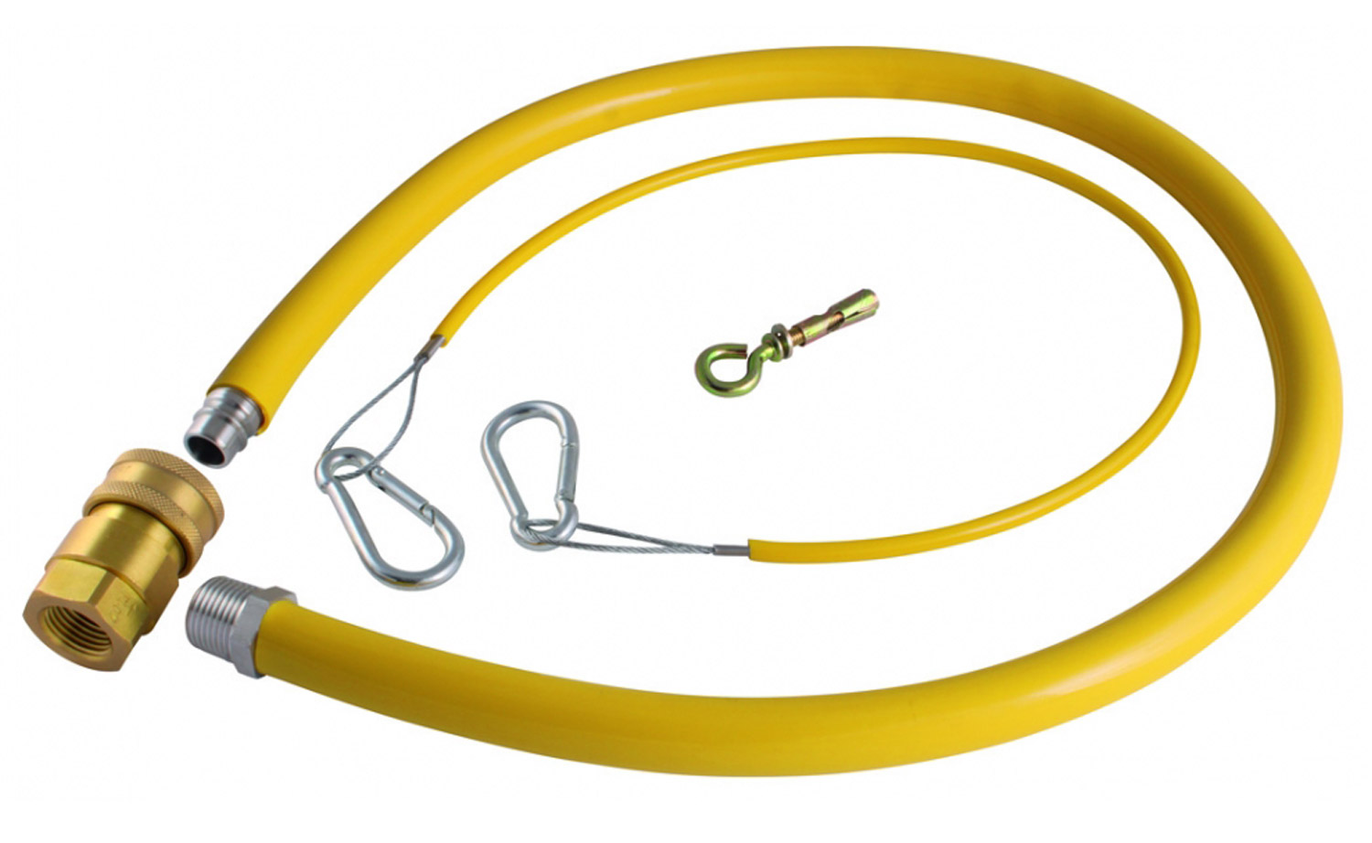 CATERHOSE COMMERCIAL YELLOW GAS CATERING PIPE HOSE 1M LONG 1500mm by 3//4/'