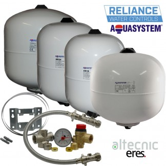 Aquasystem Potable Expansion Vessels 2,8,12,18,24,35L +Sealed System Kit+Bracket