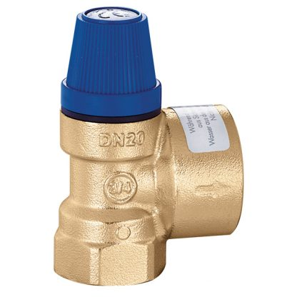 "Caleffi 531410 10 Bar Safety relief valve. Female connections 1/2"" - 3/4"""